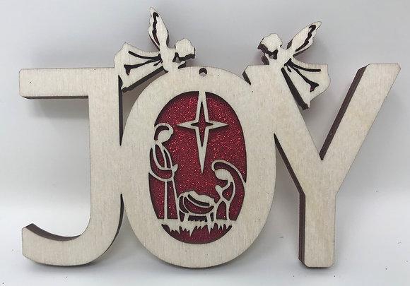 Joy Ornament with Nativity Scene