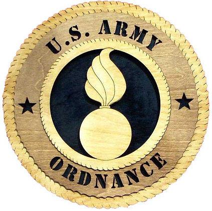 12 inch Wall Tribute - U. S. Army Ordnance