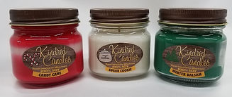 Holiday 3 pack Soy Jar - Candy Cane - Su