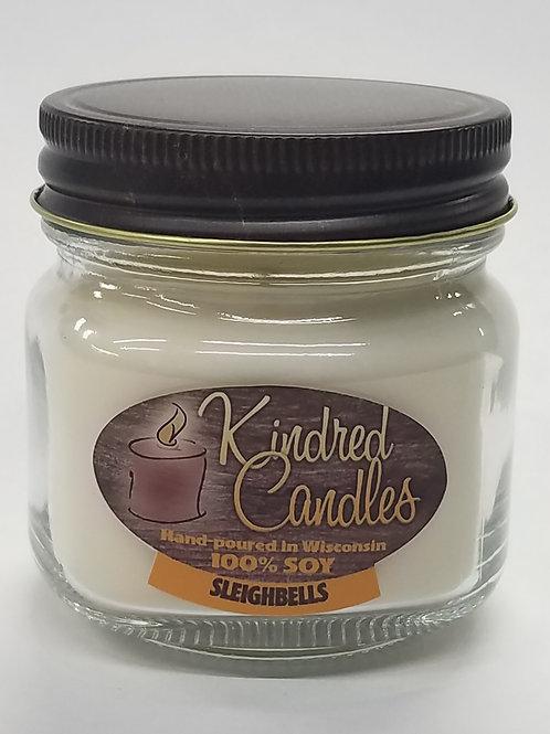 1/2 Pint Soy Jar - Sleighbells (Holiday)