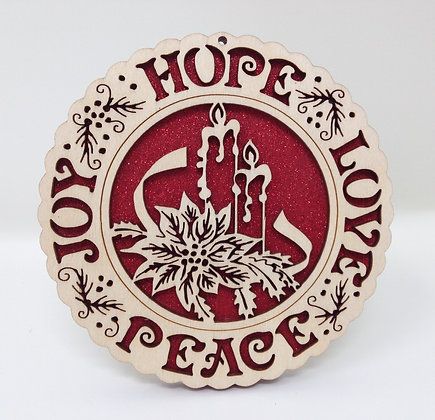Hope-Love-Peace-Joy Plate