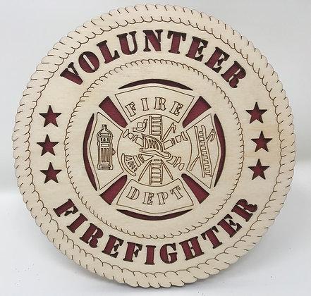 6 inch Desktop Tribute - Volunteer Firefighter Wall
