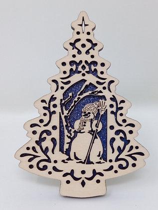 Filigree Tree Snowman Ornament