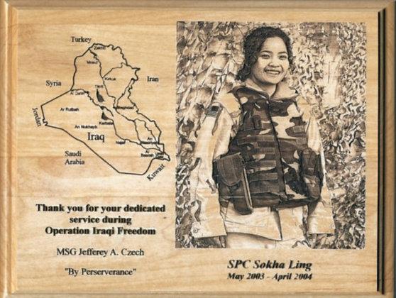 Custom Soldier Plaque