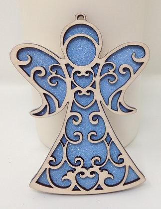 Fretwork Angel Ornament