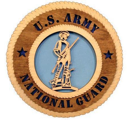 12 inch Wall Tribute - U. S. Army National Guard