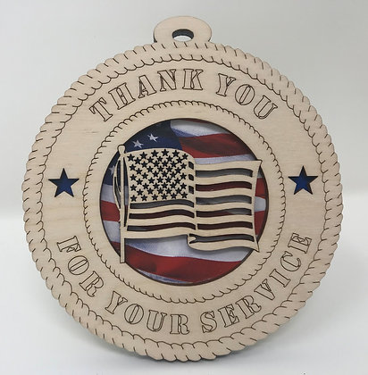 Thank You for Your Service Ornament