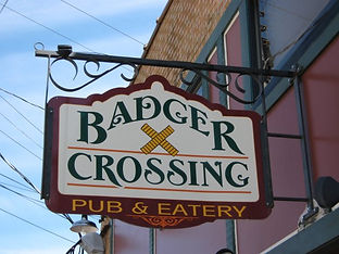 Badger Crossing sign
