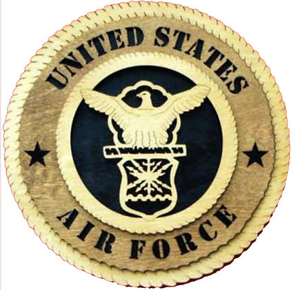 12 inch Old United States Air Force Crest Wall Tribute