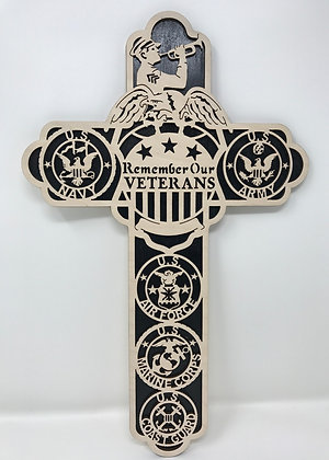 12 inch - Remember Our Veterans Cross