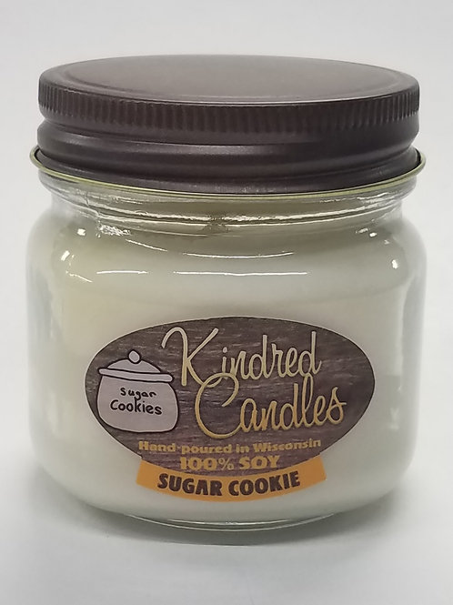 1/2 Pint Soy Jar - Sugar Cookie (Holiday)