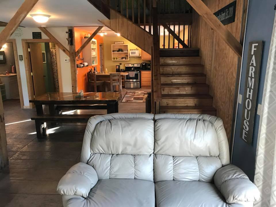 couch & stairway