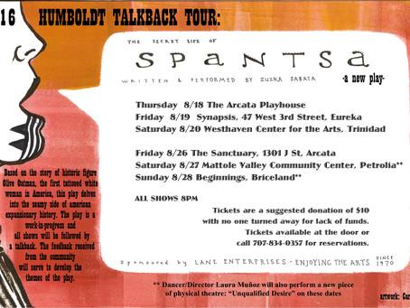 "August 2016: ""Secret Life"" Feedback Tour"