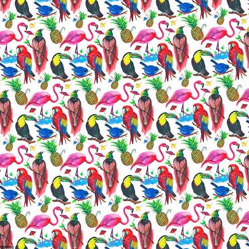 <Liberty  Mask>Liberty Fabric Tana Lawn:Birds of Paradise