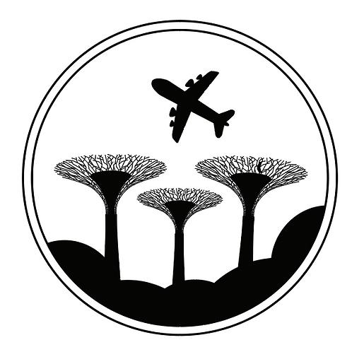 シンガポールスタンプ mini /飛行機