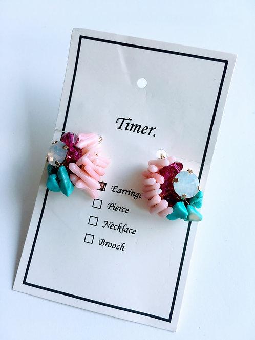 Timer. Coral Earrings