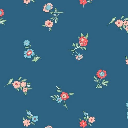 <Liberty  Mask>Liberty - The Cottage Garden - Little Vine - Blue