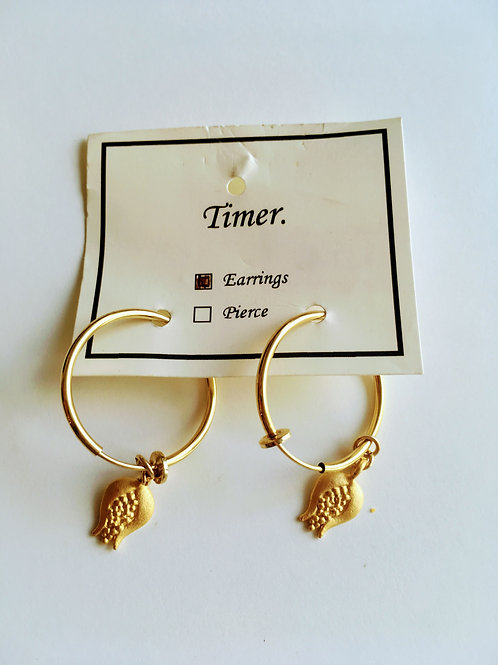 Timer. Tulip Motif Earrings