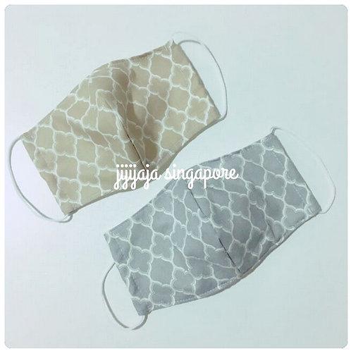 【モロッカン/gray】For sensitive skin/3D Women's mask filter slot/nosewire op