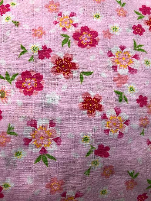 🌸甚平 桜と花びら ピンク