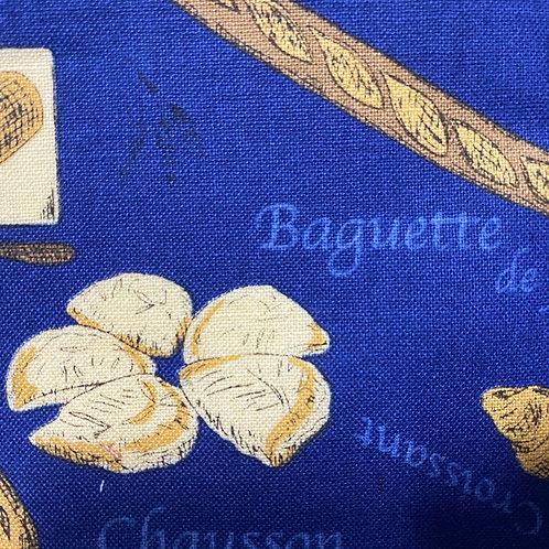 【🥖 Baguette/blue】5ply Gauze Mask 5重平面ガーゼマスク(S)