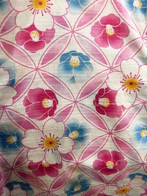 🌸甚平 椿と桜 ピンク