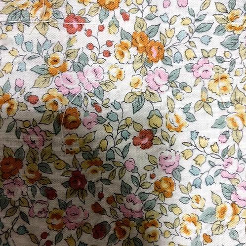 Flower/Orange  cotton