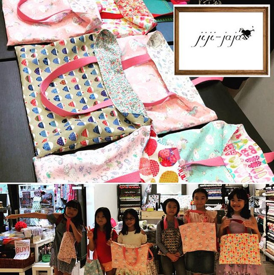 Birthdays 🎂 sewing workshop ^_^_8歳&9歳のお