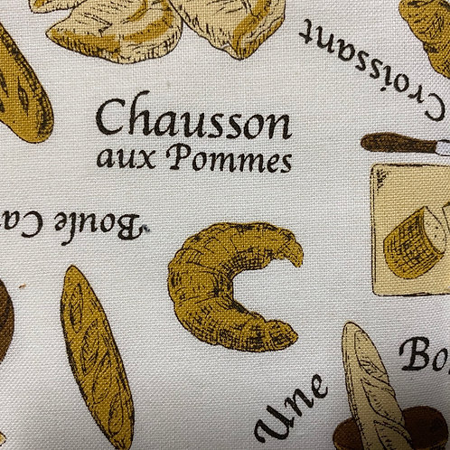 【Croissants 🥐 /white】5ply Gauze Mask 5重平面ガーゼマスク(S)