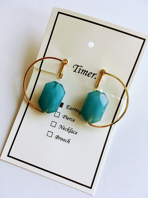 Timer. blue stone Earrings