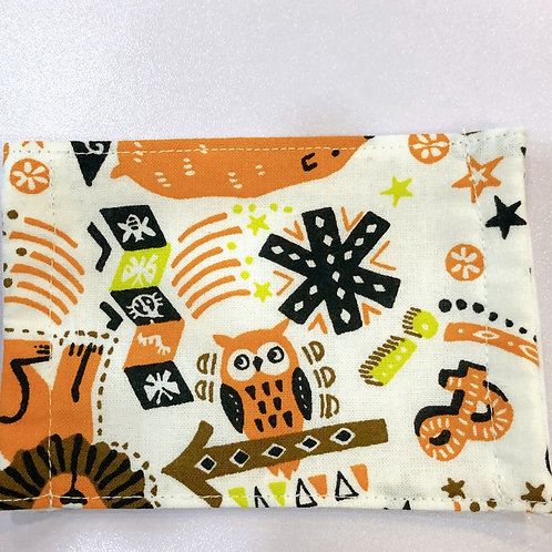 【owl/orange】5ply Gauze Mask 5重平面ガーゼマスク(S)