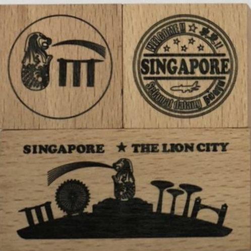 シンガポールスタンプ 赤セット