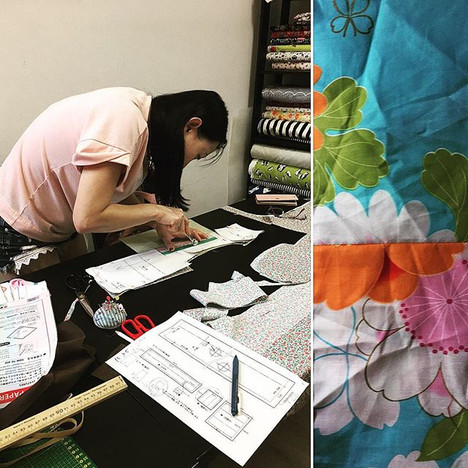 Pet yukata workshop#jijijaja #workshop #sewing #sewingworkshop #singapore #じじじゃじゃ #totebag #totebags#kimono #handmadekimono #kimonoworkshop_