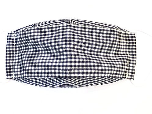 【checkered】boat type 3D mask for kids