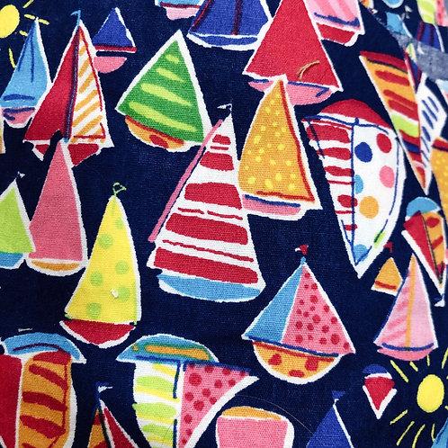 【Sail Boat】5ply Gauze Mask 5重平面ガーゼマスク(S)