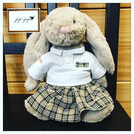 制服リメイクKeen to upcycle your kids' former uniform_ into an outfit for_their favorite plush toy_as Memory keepsake_$55__#卒業記念 #uniform #memorie