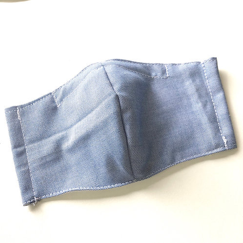 【Denim Color】3D mask with filter pocket and non removable nose wire