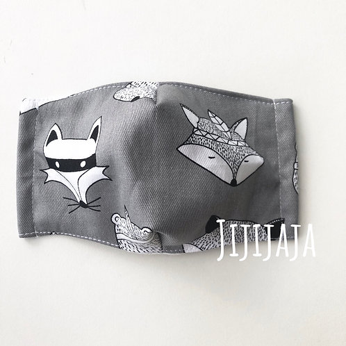 【Fox/grey】For sensitive skin/3D mask filter slot/nosewire options