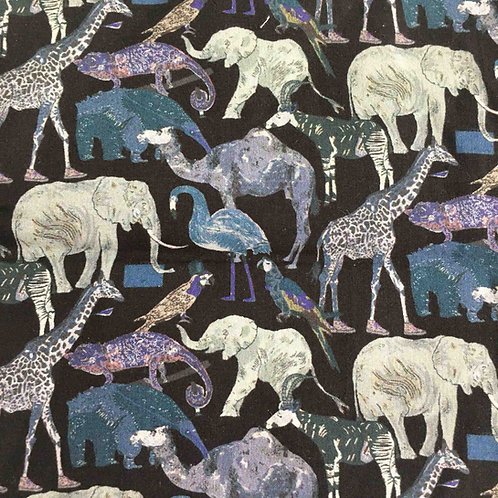 <Liberty  Mask>Liberty of London Tana Lawn:Queue for the Zoo