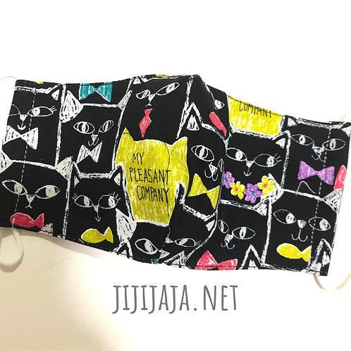 【cats/black】Sensitive skin with filter pocket