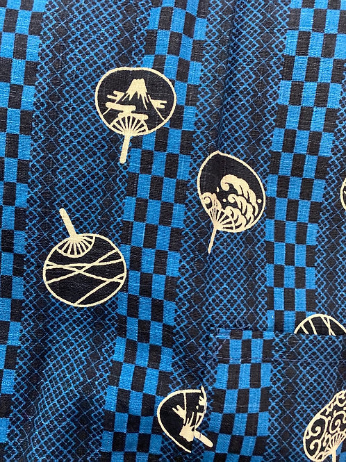Japanese fan blue