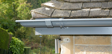 galvanised steel gutters