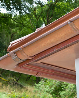 copper and zinc guttering