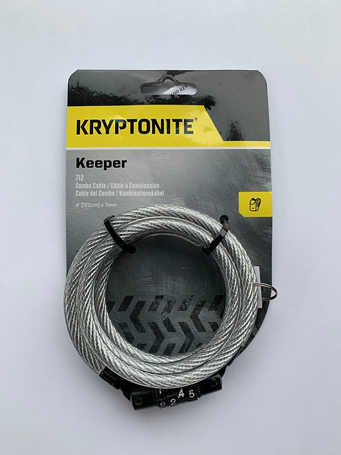 Kryptonite KryptoFlex Keeper 712 4-Digit Combo Cable Lock