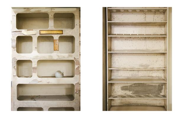 Room 1, shelfs