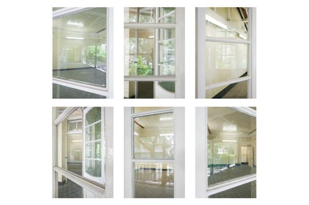 Veranda, doors, reflections