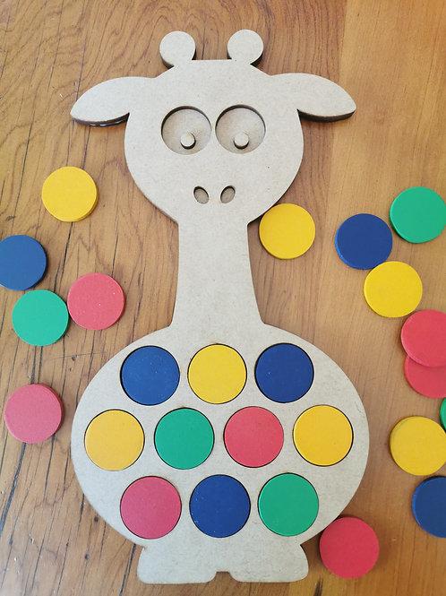 Giraffe Colour Puzzle