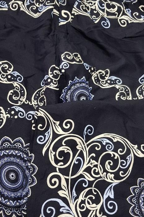 Boho Pocket Pants - Black Ivy Mandala