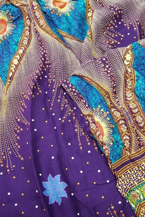 Boho Pocket Pants - Purple Peacock