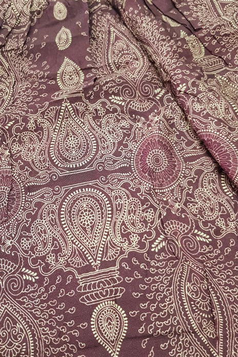 Boho Pocket Pants - Deep Purple